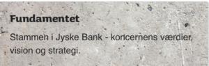 Jyske bank Fundament er at være hæderlige, skriver banken
