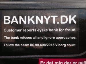 Jyske bank er ligeglade hvem de snyder, men fortrækker at snyde de små og svage kunder.