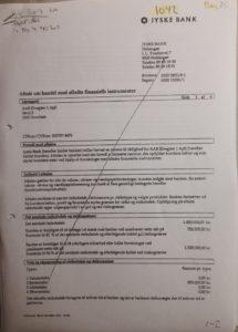 Jyske bank modtager brev med dato 06-05-2009 fra Nykredit at lånetilbudet på 4.328.000 kr fra 20-05-2008 er bortfaldet Alligevel kræver jyske bank flere sikkerheder 11-05-2009
